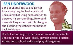Focus Ben Underwood rare and unusual skills