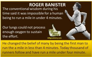 Focus Roger Banister changed belief