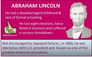 Focus Success Abraham Lincoln not discourged by failures