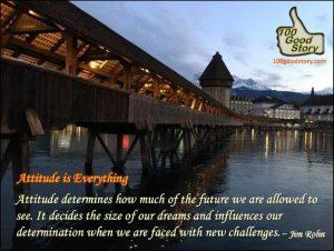 100goodstory Inspirational Quotes; Jim Rohn on Attitude